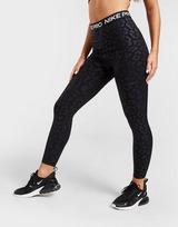 Nike Training Pro Leopard Print Tights