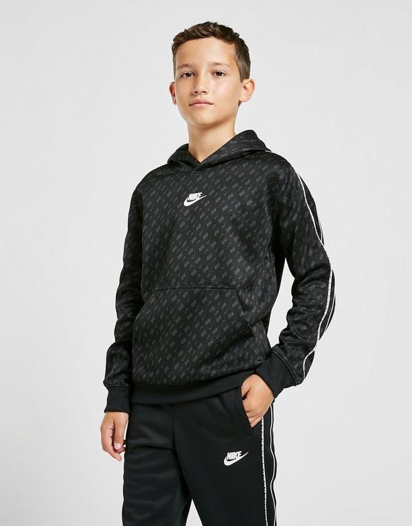 Nike Tape Poly All Over Print Overhead Hoodie Junior