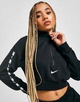 Nike Crop Top Tape Logo 1/4 Zip Femme