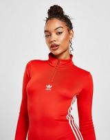 adidas Originals 3-Stripes Long Sleeve Zip Dress