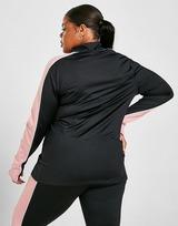 Pink Soda Sport Colour Block 1/4 Zip Plus Size Top
