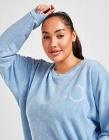Supply & Demand Gothic Plus Size Washed Crew Neck Sweatshirt