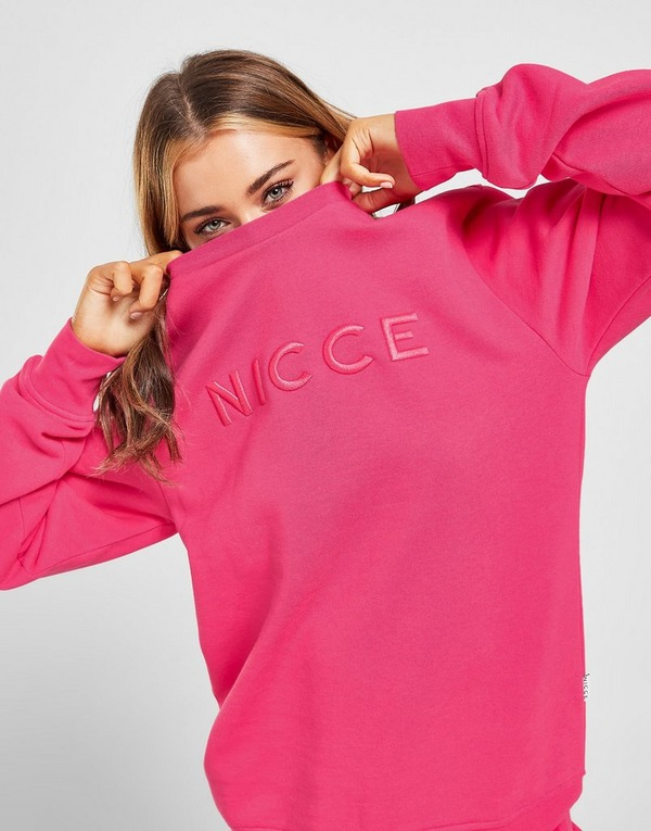 Nicce Embroidered Logo Crew Neck Sweatshirt