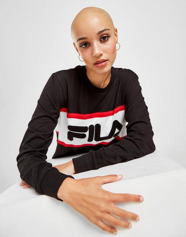 Fila Colour Block Long Sleeve T-Shirt
