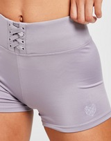 Pink Soda Sport Lace Up Shorts