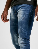 Brave Soul Paint Splattered Slim Jeans