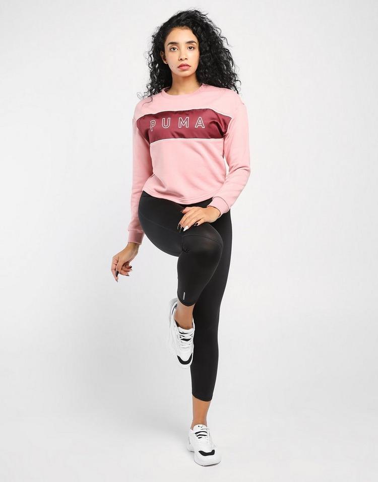 PUMA Style Cat Satin Crew Sweatshirt