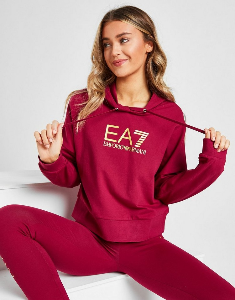 Emporio Armani EA7 Core Logo Crop Hoodie