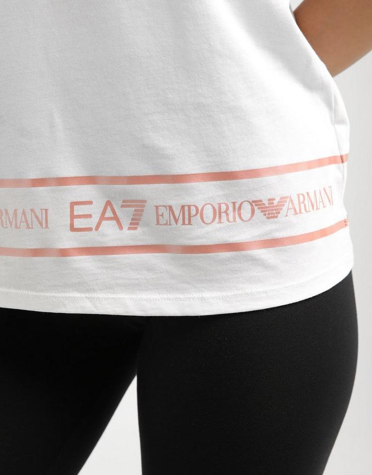 Emporio Armani EA7 TAPE FRONT CROP T PNK/SILVER$