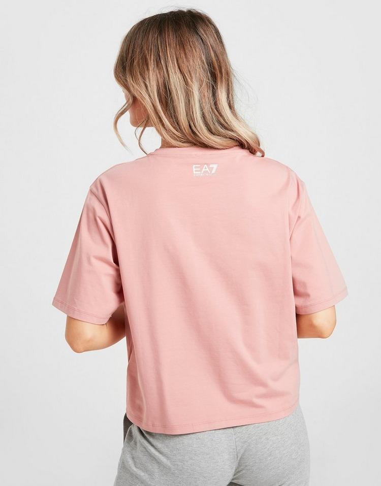 Emporio Armani EA7 Tape Front Crop T-Shirt