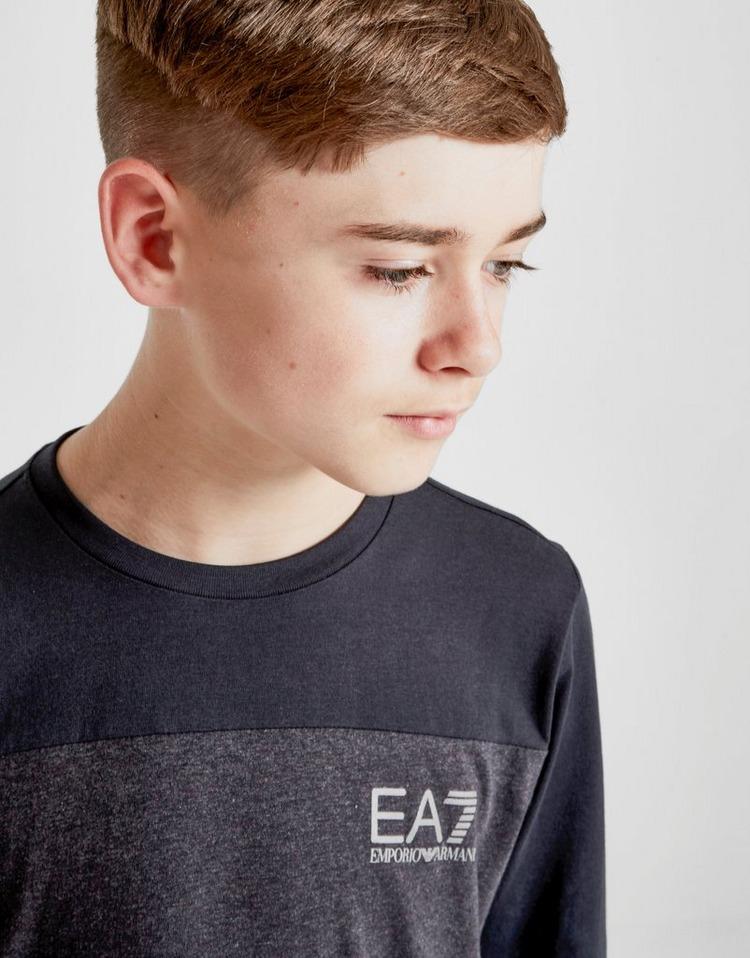 Emporio Armani EA7 Tritonal Colour Block Long Sleeve T-Shirt Junior