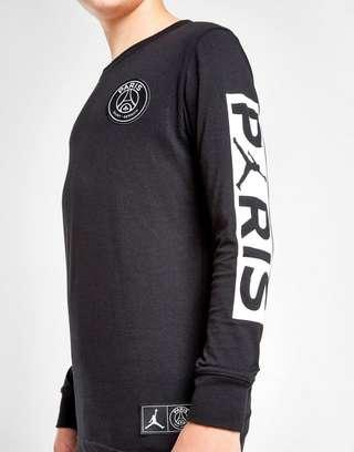 new product db7ac 2bce1 JORDAN PSG Long Sleeve Logo T-Shirt Junior   JD Sports