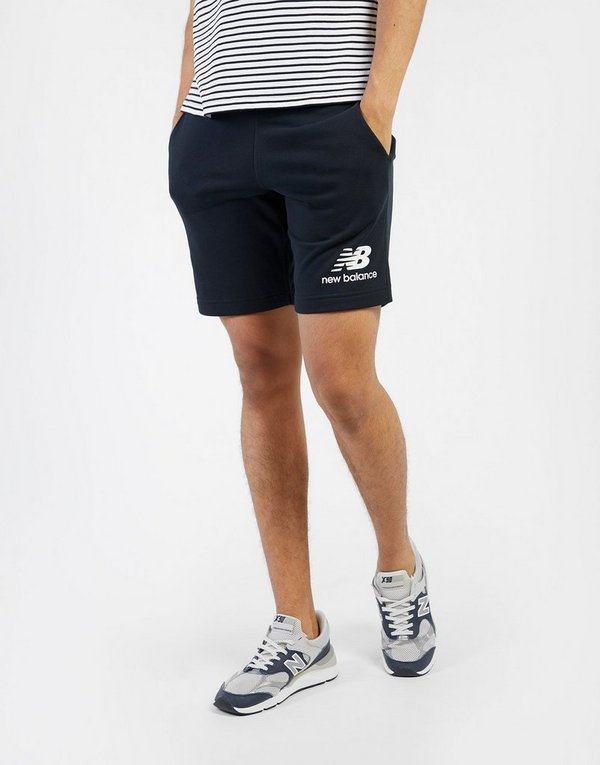 bdf539ca3fe48 NEW BALANCE Essentials Stacked Logo Shorts | JD Sports