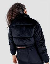 FIla Velour Crop Puffer Jacket
