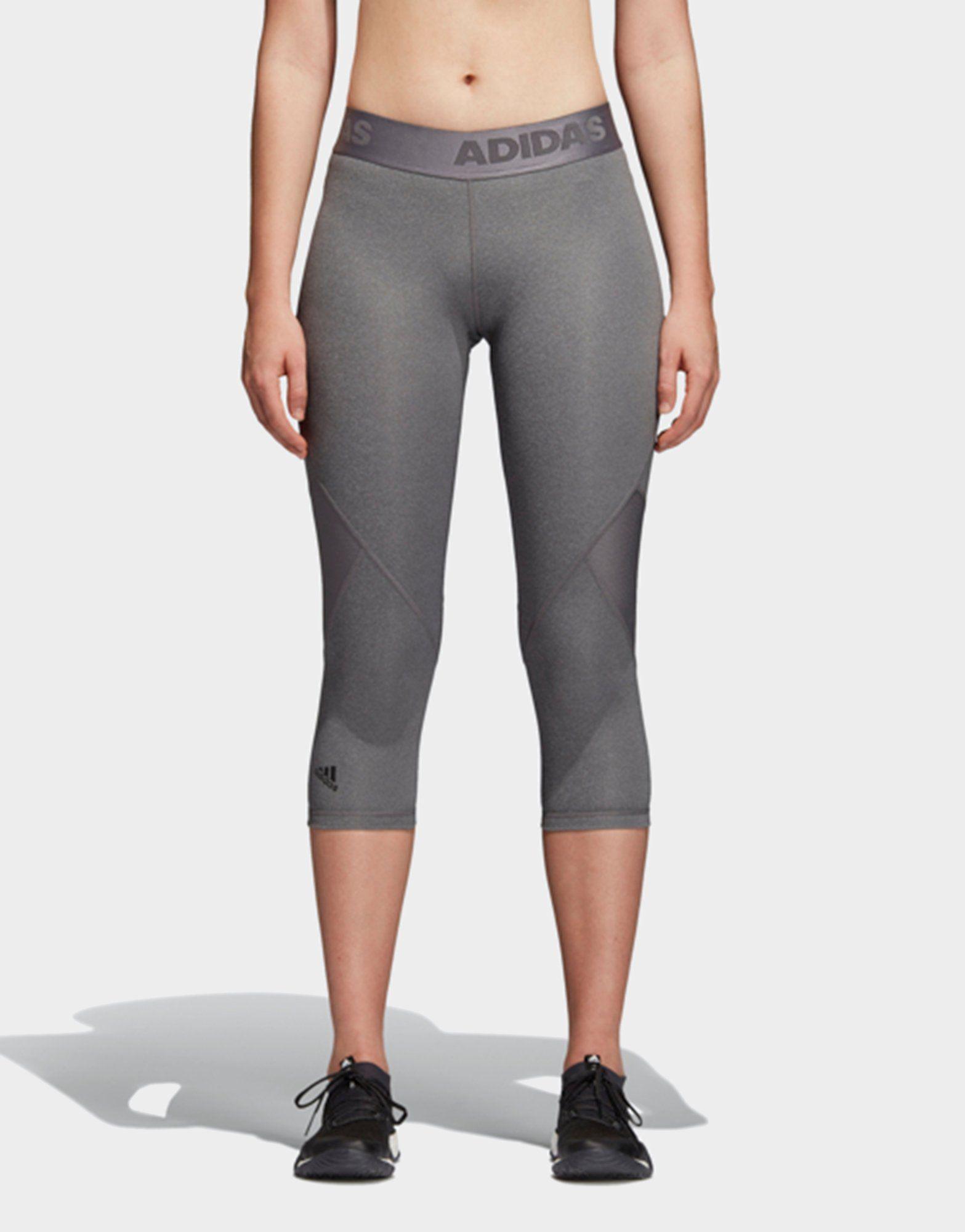 bb443f157c6c6 adidas Performance Alphaskin Sport Heather 3/4 Leggings | JD Sports