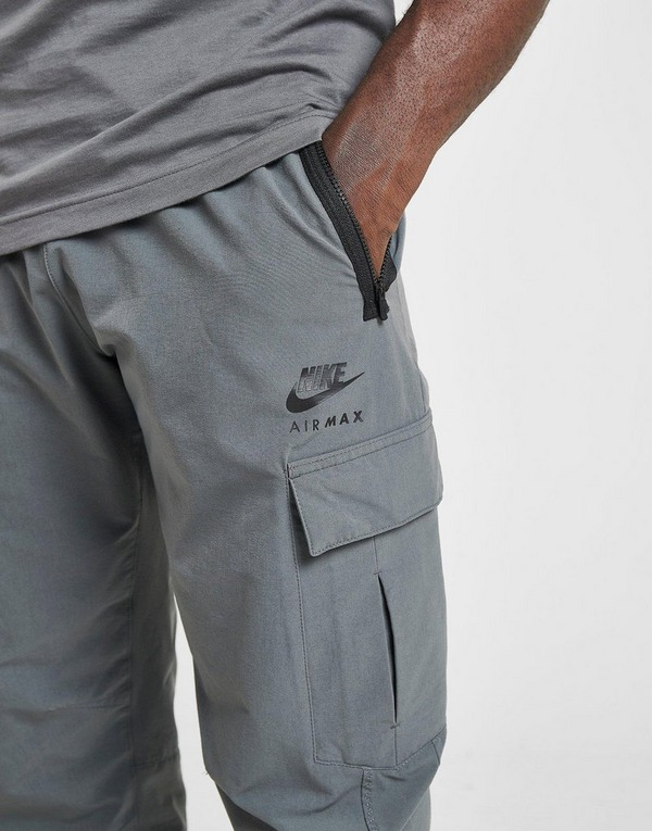 Buy Grey Nike Air Max Woven Cargo Pants | JD Sports