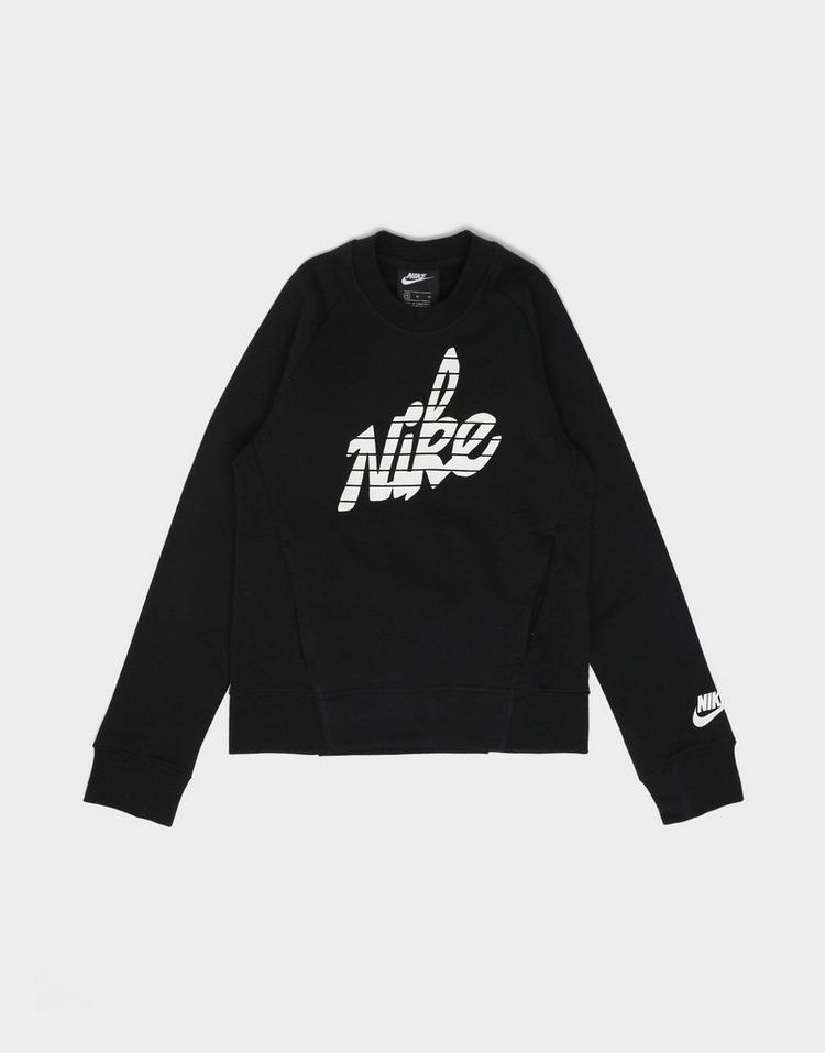 NIKE Girls' Graphic Crew Sweatshirt Junior