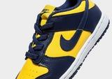 Nike รองเท้าเด็กแรกเกิด Dunk Low Michigan