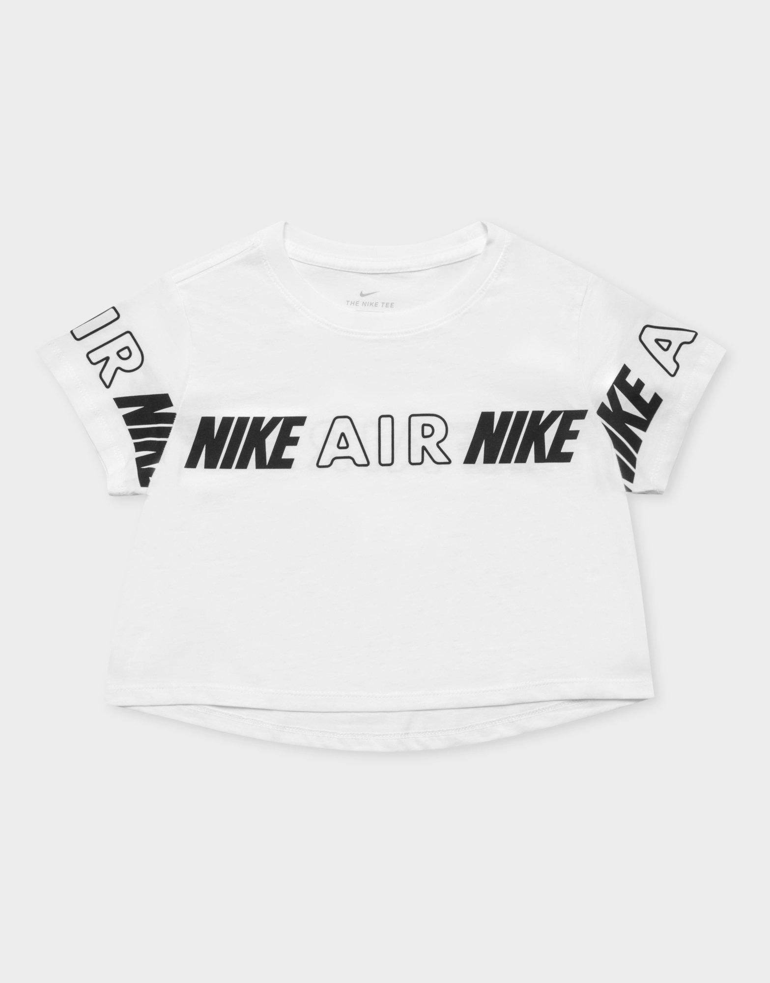 arrebatar envío zapatilla  Buy White Nike Air Crop T-Shirt Junior's