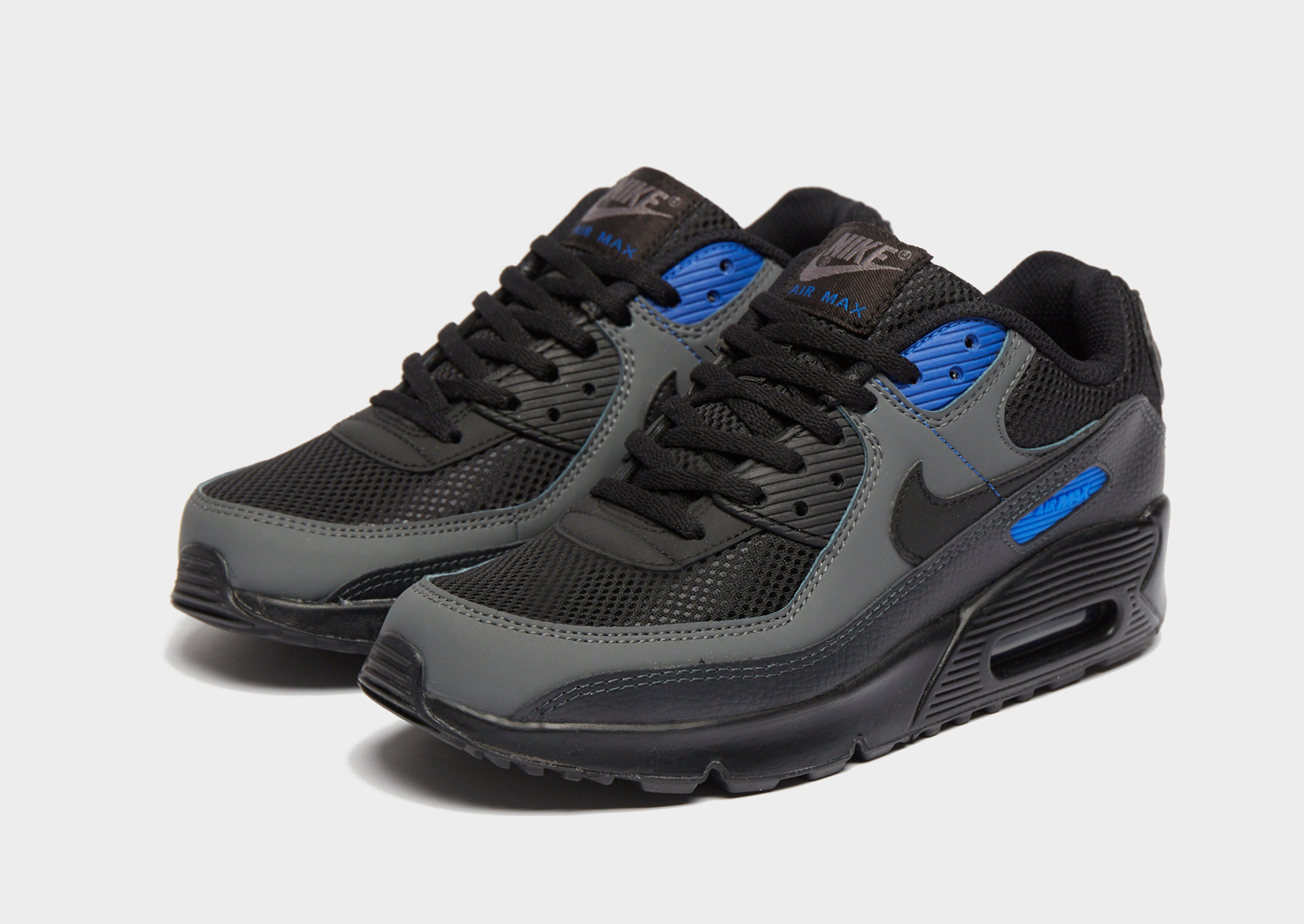 nike air max 90 junior black and blue Promotions