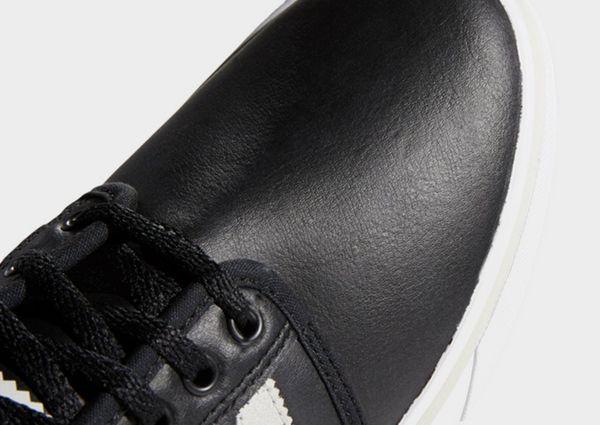 Details about Adidas Originals SEELEY Triple Black LEATHER SHOES