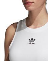 adidas Originals 3-Stripes Cropped High Neck Tank Top