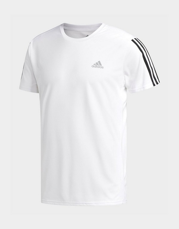 Buy Adidas Performance Running 3 Stripes T Shirt Jd Sports