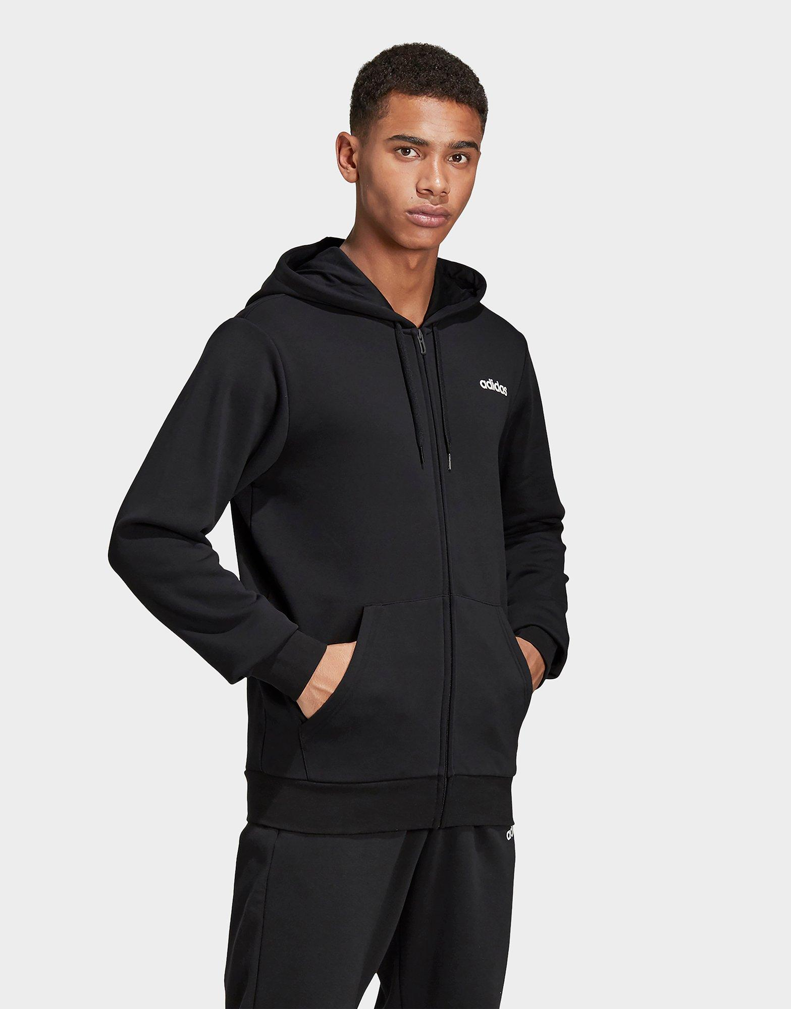 Mens Essentials Linear French Terry Full Zip