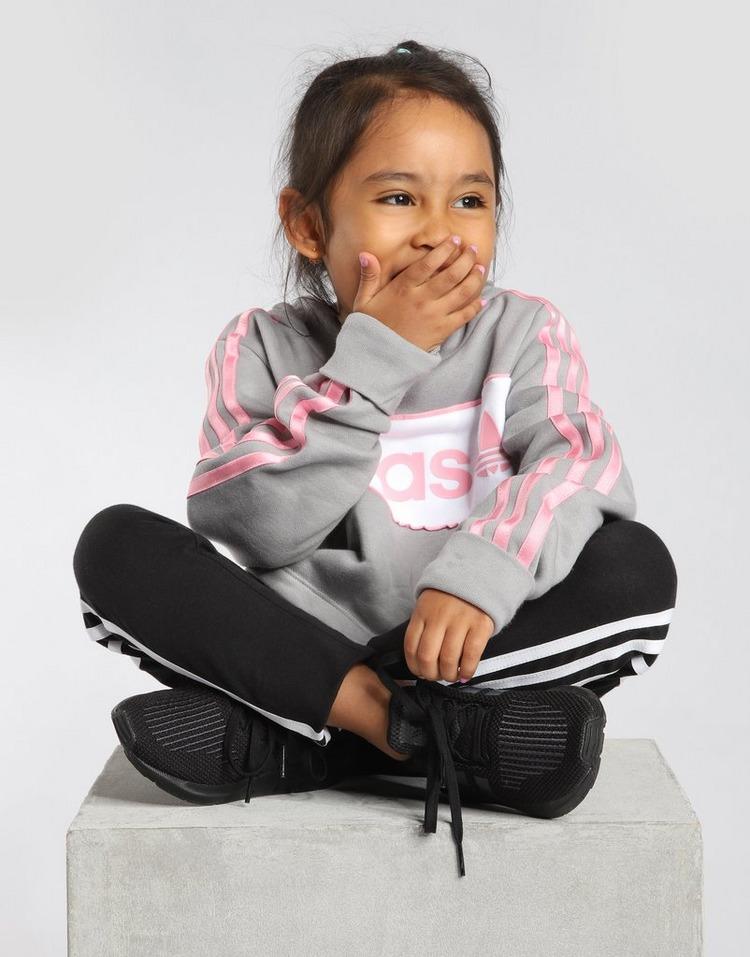 adidas Originals Girls' Linear Crop Hoodie Junior