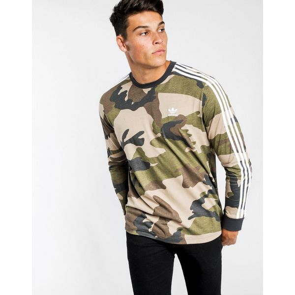 b5afab27eafc adidas Originals Long Sleeve All Over Print T-Shirt | JD Sports
