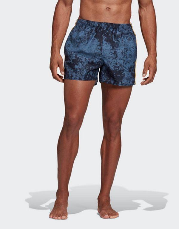 b6b611f209 adidas Performance 3-Stripes Allover Print Swim Shorts | JD Sports