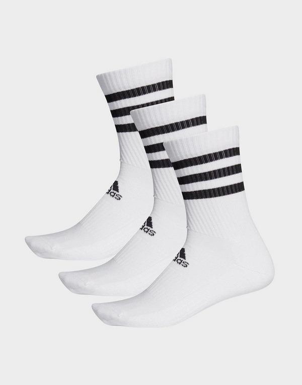 adidas Performance 3-Stripes Cushioned Crew Socks 3 Pairs