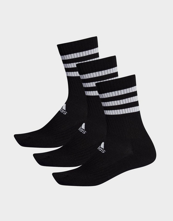 adidas Performance 3-Stripes Cushioned Crew Socks 3 Pairs