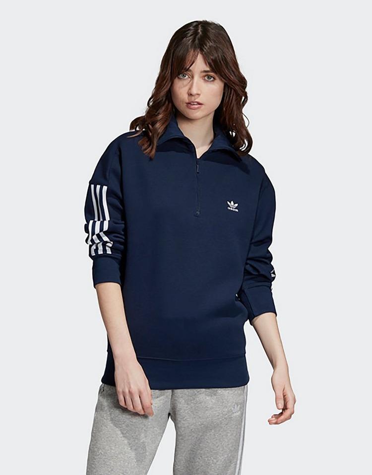 adidas Originals Half Zip Sweatshirt Blau