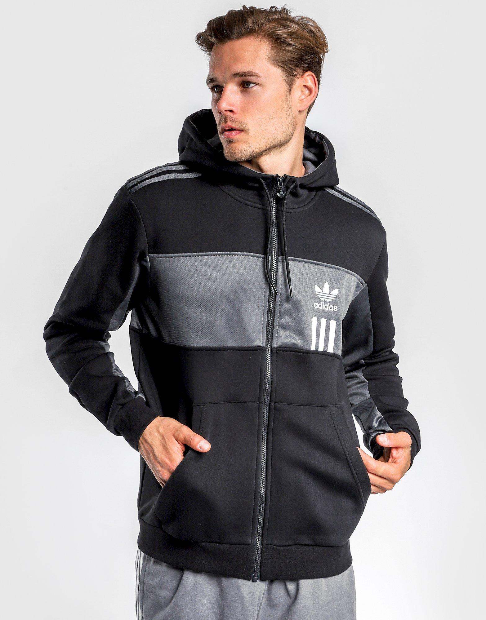 Adidas originals nmd full zip hoodie black men´s clothing