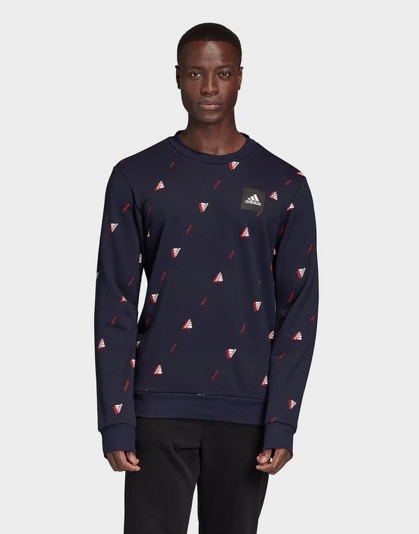 adidas Performance Must Haves Graphic Crew Sweatshirt