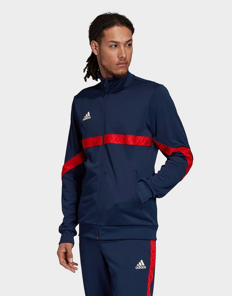 Adidas Black Tan Tape Clubhouse Track Jacket