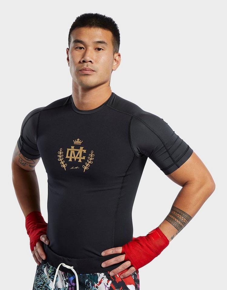 Herren Reebok Combat Short Sleeve Rash Guard Kompression Tee Training