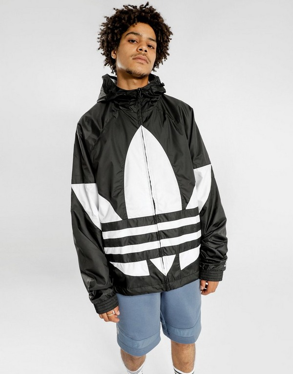 Buy Black adidas Originals Big Trefoil Windbreaker Jacket