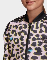 adidas Originals Girls' All Over Print Superstar Track Top Junior