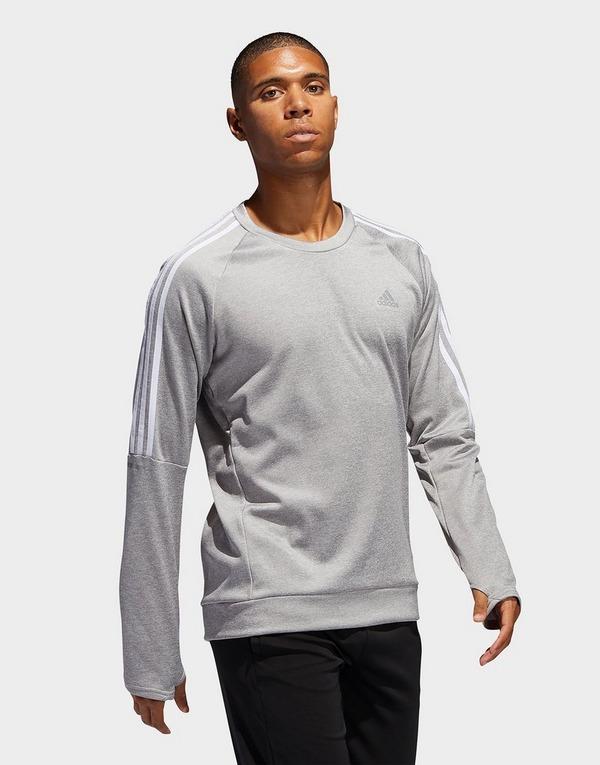 adidas Performance Own the Run 3-Stripes Crew Sweatshirt