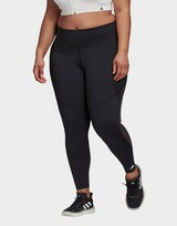 adidas Believe This 3-Stripes Mesh Long Leggings (Plus Size)