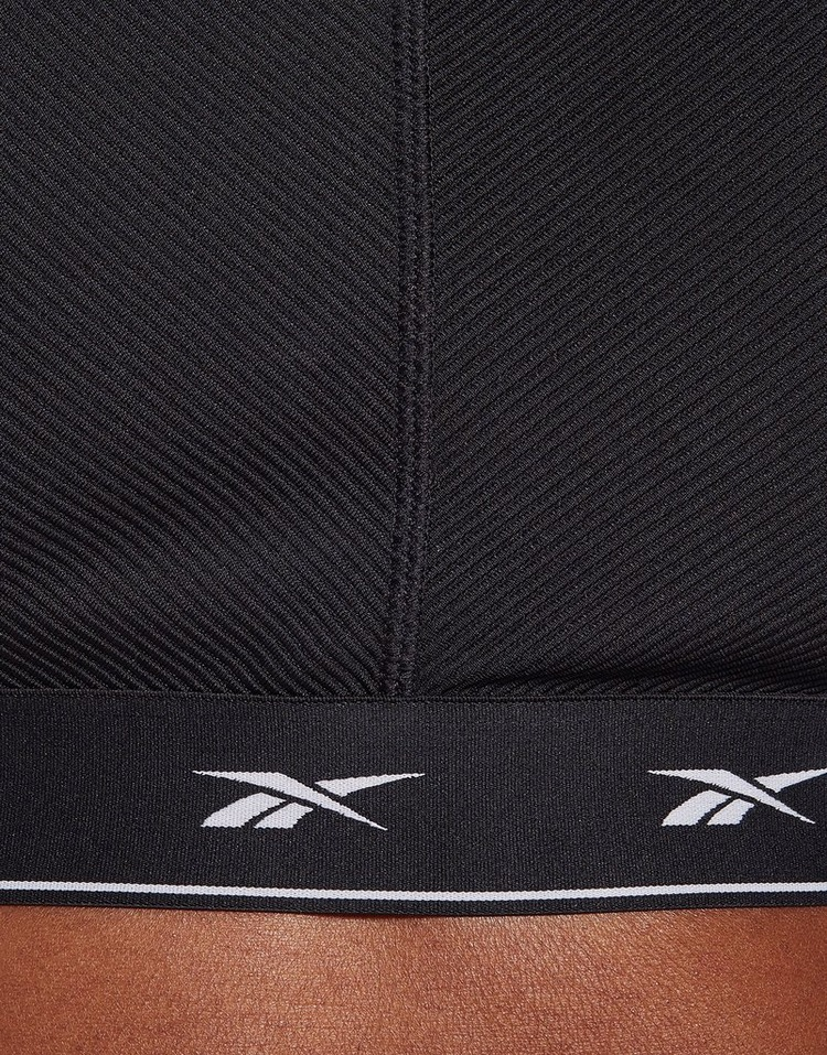 Reebok shiny strappy lounge low-impact sports bra