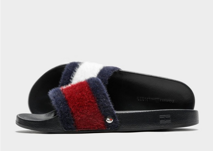 Tommy Hilfiger Furry Slides Womens'