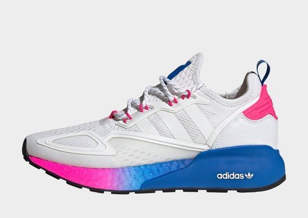 adidas Originals รองเท้าผู้หญิง ZX 2K BOOST สีขาวชมพู