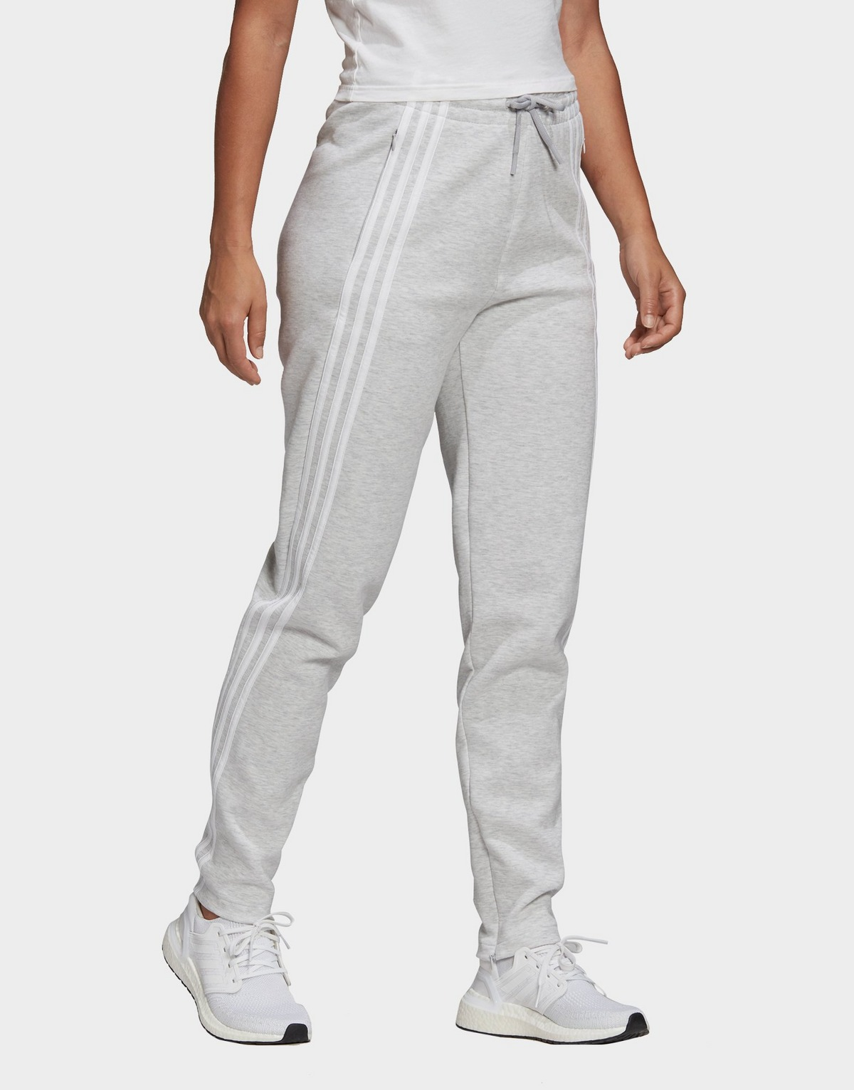 Adidas Performance 3-stripes Doubleknit Zipper Tracksuit Bottoms