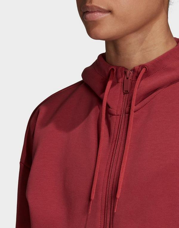 adidas Performance 3-Stripes Doubleknit Full-Zip Scuba Hoodie