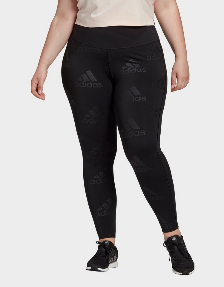 adidas Believe This Glam On Long Leggings (Plus Size)
