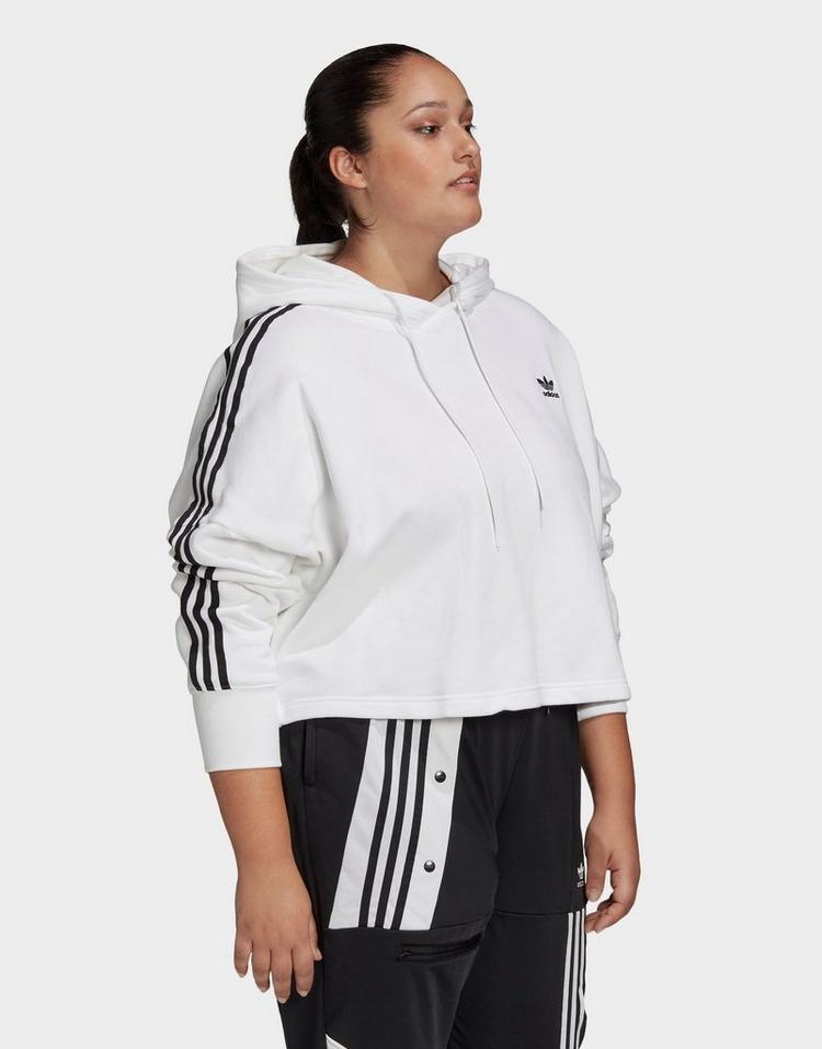 adidas Originals Cropped Hoodie (Plus Size)