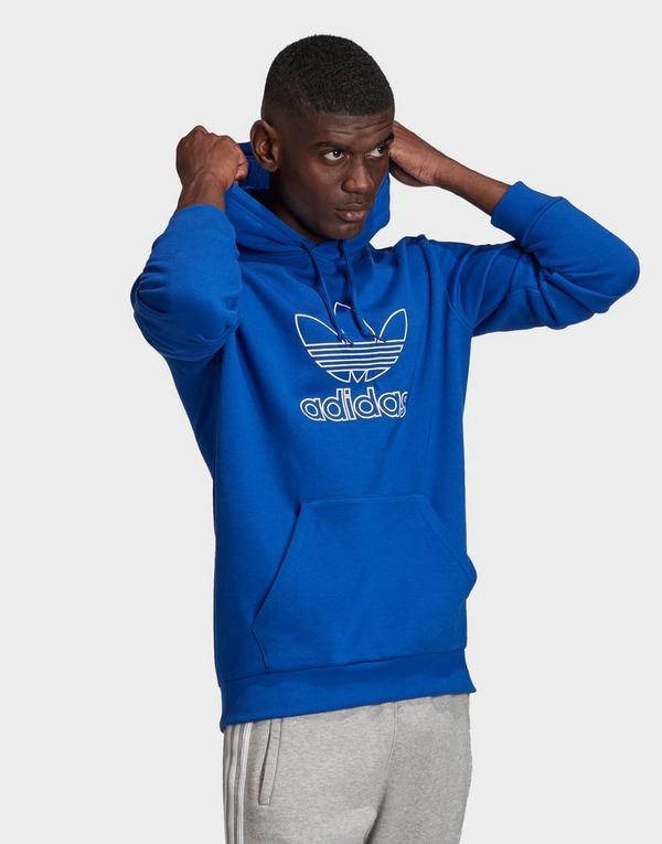 Acheter Blue adidas Originals sweat shirt à capuche outline